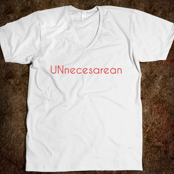 unnecesarean-v-neck.american-apparel-unisex-v-neck-tee.white.w760h760