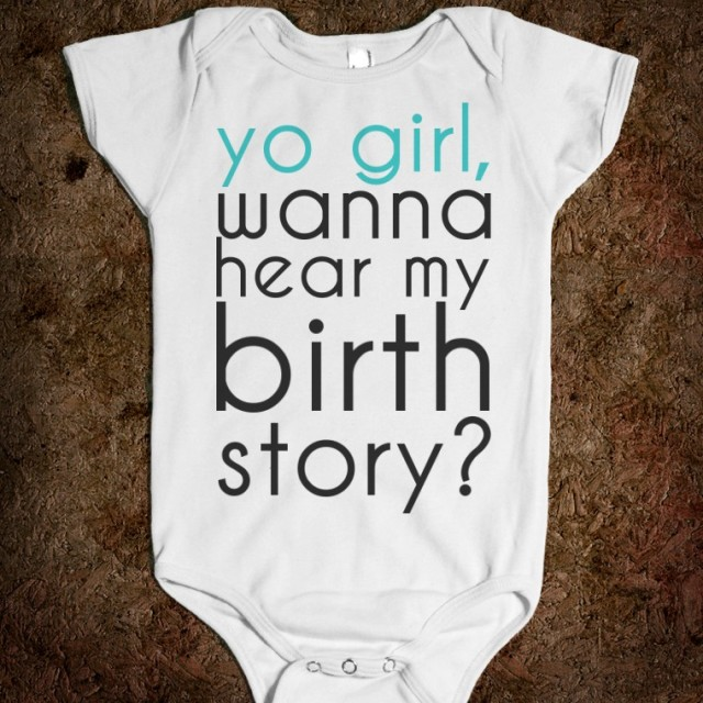 yo girl birth story baby onesie